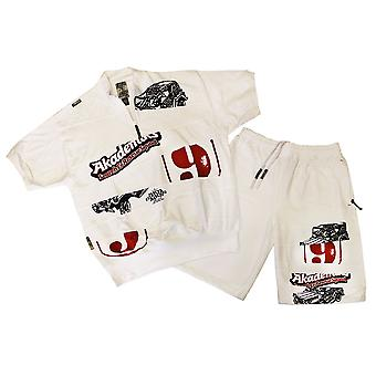 Akademiks Shorts Set blanco