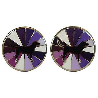 Tyler and Tyler Labrador Burst Cufflinks - Purple
