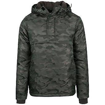 Urban classics - PADDED PULL OVER jacket olive camo