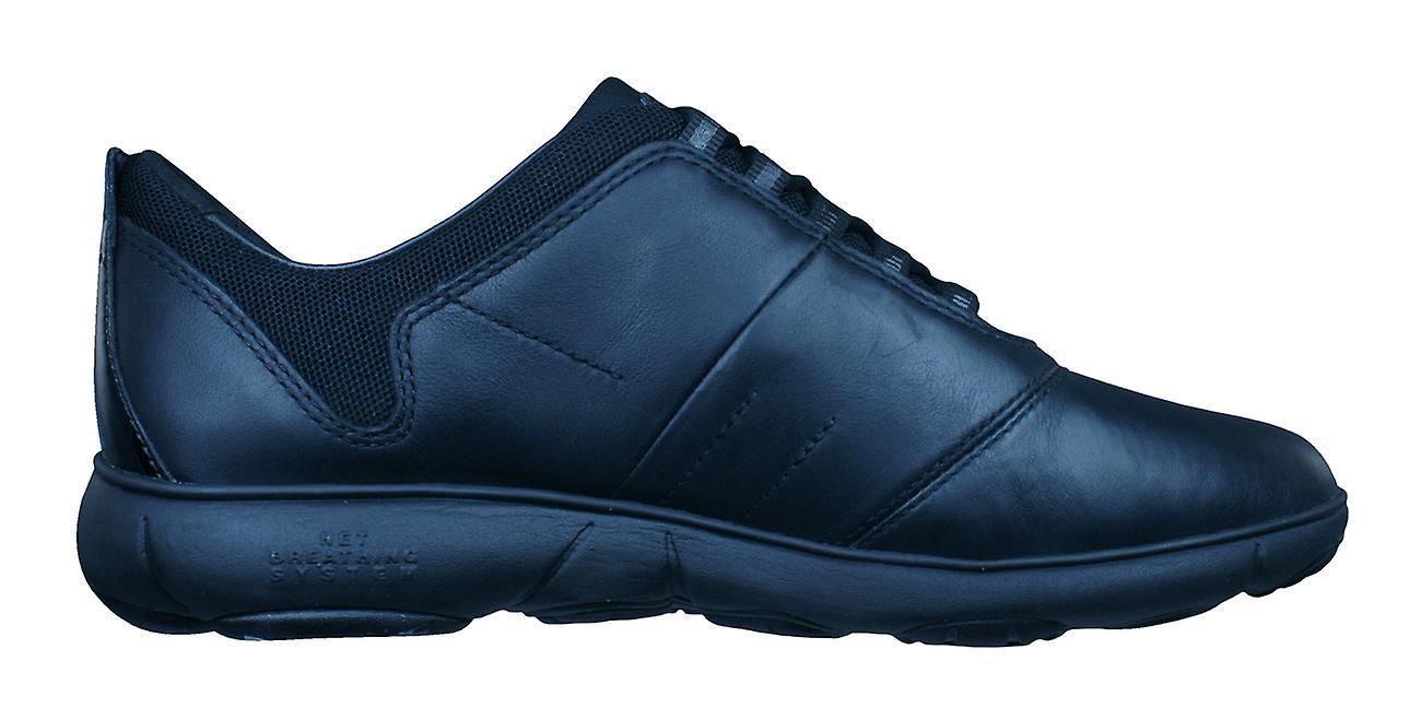 Geox D Nebula E Womens Leather Trainers / Shoes - - - Black 4ceec7