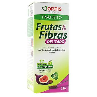 Ortis Fruit And Fiber Syrup 250Ml Delicate. (Diet)