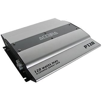 Accura P 120, car amplifier 4 channel power amplifier 120 watts maximum, new goods