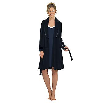 BlackSpade 6100-050 Women's Navy Dressing Gown Loungewear Bath Robe