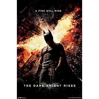 Dark Knight Rises One Sheet Poster Poster Print