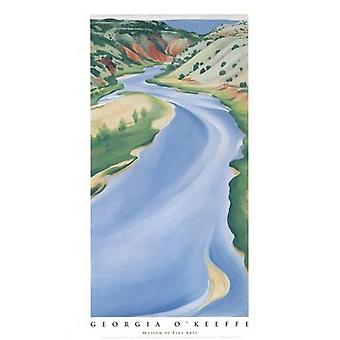 Blå elven (Chama elv) Poster trykk av Georgia OKeeffe (22 x 39)