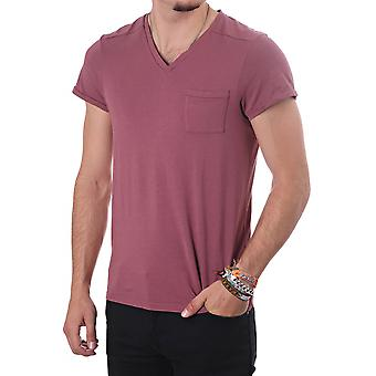 Scotch & Soda V Neck Tee In Vintage Fit
