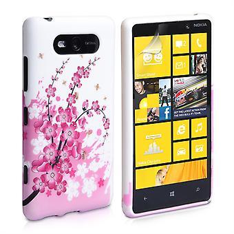 Yousave tillbehör Nokia Lumia 820 blommig Bee silikon Gel Case