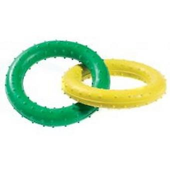 Caldex Classic Dogs Pimple Rubber Rings Tug Toy