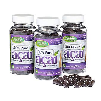 100% Pure Acai Berry 700mg with No Fillers or Bulking Agents - 180 Capsules - Acai Berry - Evolution Slimming