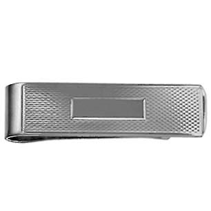 Silver 15x52mm engine turned barley infill centre space Money Clip