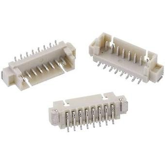 Built-in pin strip (standard) WR-WTB Total number of pins 2 Würth Elektronik 653102124022 Contact spacing: 1.25 mm 1 pc(