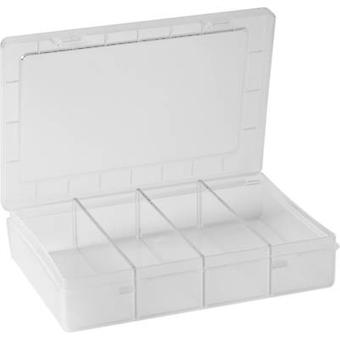 Assortment box (L x W x H) 180 x 140 x 40 mm Alutec No. of compartments: 1 fixed compartments