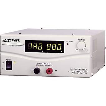 Bench PSU (adjustable voltage) VOLTCRAFT SPS 1540 PFC 3 - 15 Vdc 4 - 40 A 600 W Remote No. of outputs 1 x