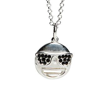 Kalas Silver Necklace Emoji Sunglass.