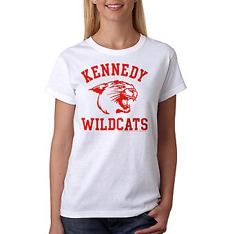 Undre år Kennedy vildkatte kvinders hvid T-shirt