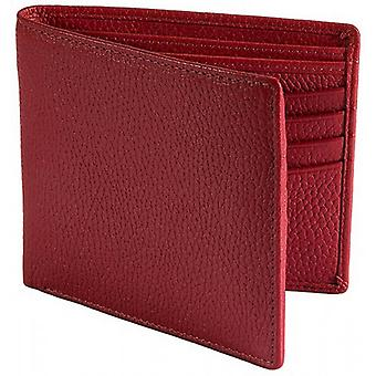 Dents Pebble Grain RFID Slim Bifold Wallet - Berry