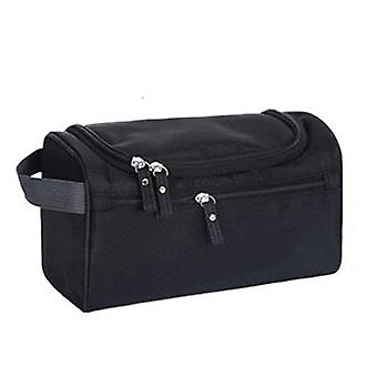 Deluxe Travel Cosmetic Make up Toiletry Case Black Wash Bag Organiser Pouch