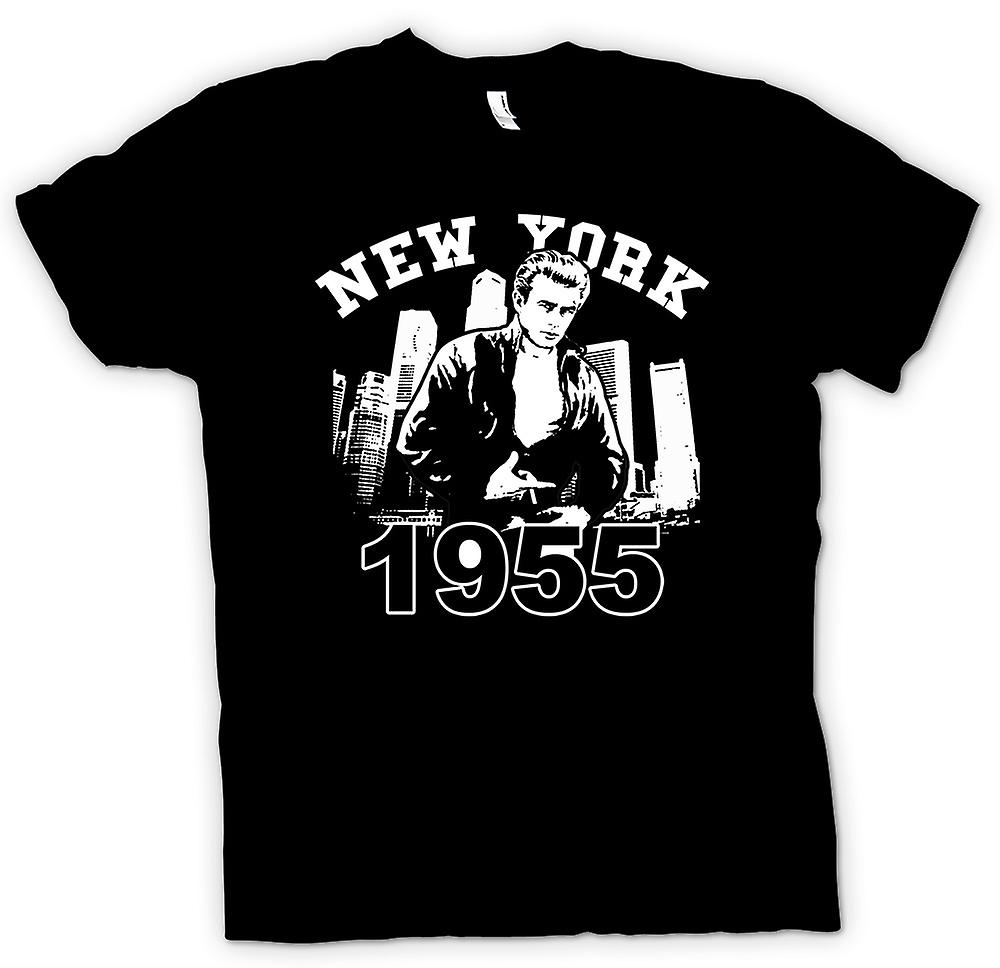 Womens T-shirt - James Dean NYC 1955 - Movie ikonen