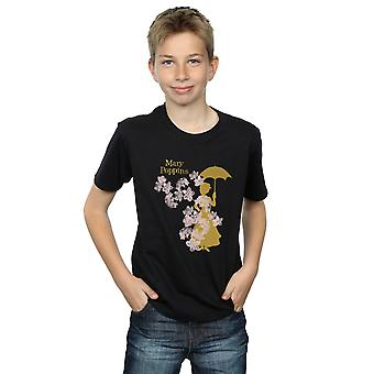 Disney Boys Mary Poppins Floral Silhouette T-Shirt