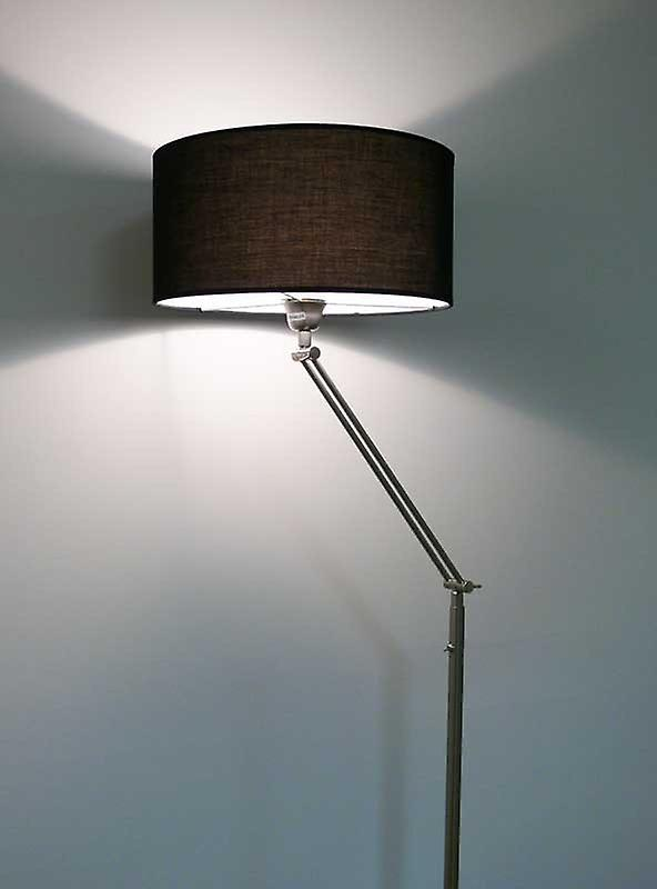 Design floor lamp black lamp shade, 164 cm, Kaja FL, 10262