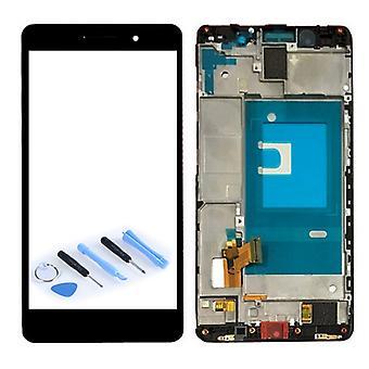 Display Einheit LCD mit Rahmen Kompletteinheit für Huawei Honor 7 Schwarz