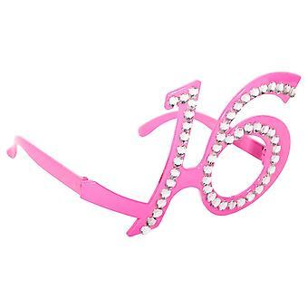 Glasses of Dekobrille glasses pink Sweet 16 Teenieparty birthday glitter glasses