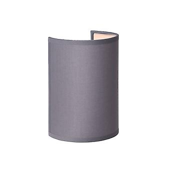 Lucide CORAL Wall Light  E14 Shade Round H20cm Grey