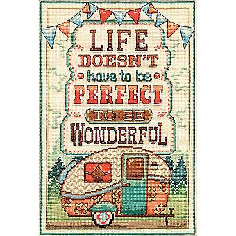 Life Is Wonderful Counted Cross Stitch Kit-8