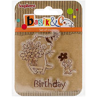 Scrapberry's Basik's New Adventure Clear Stamps 2.7
