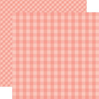 Echo Park Summer Gingham Double-Sided Cardstock 12