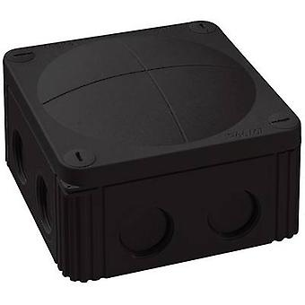 Junction box (L x W x H) 110 x 110 x 66 mm Wiska 10060648 Black