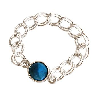 Gemshine - women's - ring - 925 Silver - turquoise - blue - mobile - smooth