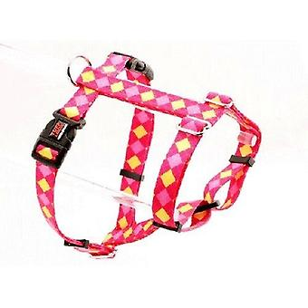 Tuff Lock Harness X Small Argyle Pink