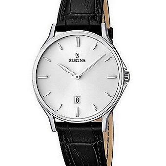 FESTINA - Herren Armbanduhr - F16745/2 - Lederband klassisch - Klassik