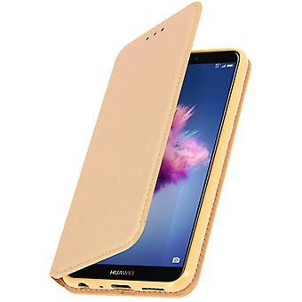 Dunne Case, Classic Edition staan geval met kaartslot voor Huawei P Smart - goud