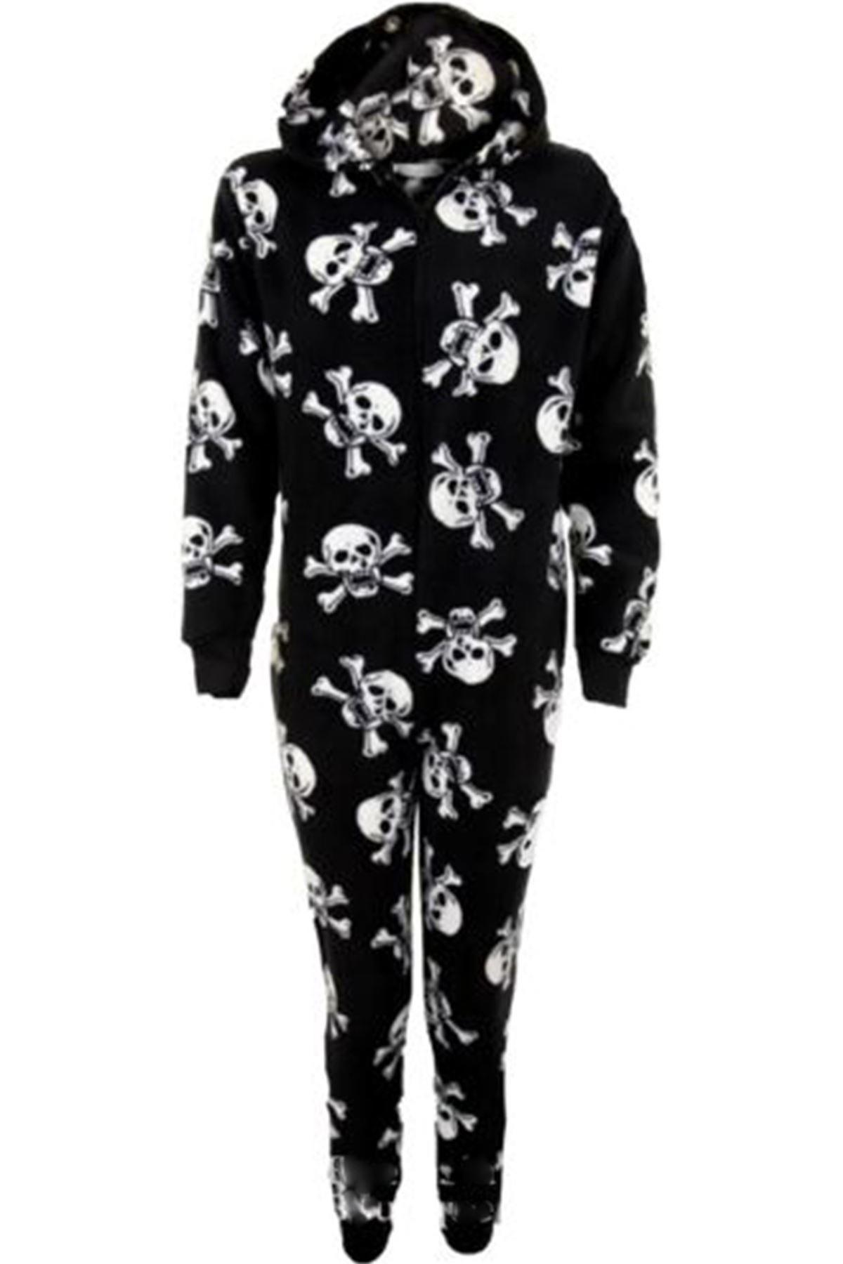 Kinder Kapuzen Tiger Zebra Skull Warm Zip bis Kid alle In einem Onsie Pyjamas