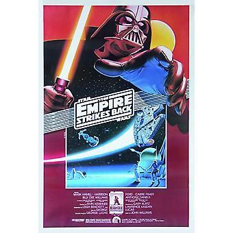 Star Wars poster Empire contre-attaque une feuille US, 10e affiche anniversaire