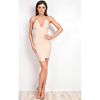 IKRUSH Womens Malik Ribbed Mini Dress