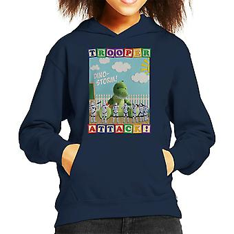 Original Stormtrooper Dino Storm Trooper Attack Kid's Hooded Sweatshirt