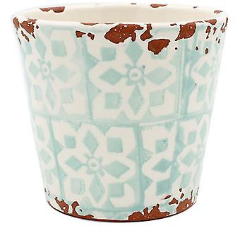 Eura Eura ceramic pot 14 x 12cm mint green (Decoration , Plants and pots)