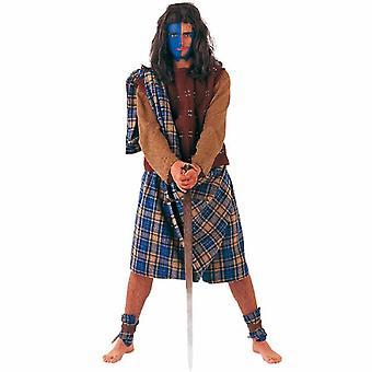Schotte Highländer Herren Kostüm Kämpfer Schottenkostüm Highländerkostüm Herrenkostüm