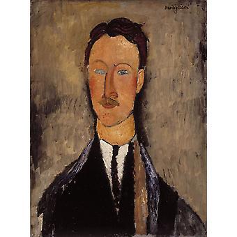 Leopold Survage, Amedeo Modigliani, 61(3) x46cm