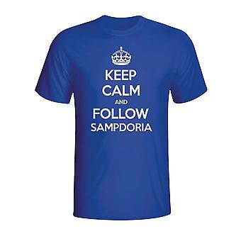 Halten Sie ruhig und folgen Sampdoria T-shirt (blau)
