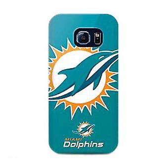 Mizco Sports NFL Oversized Snapback TPU Case for Samsung Galaxy S6 Edge (Miami D