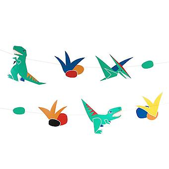 Dinosaur Theme Paper Garland Bunting 3M Party Decoration