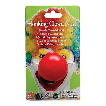 Clown Nose. Honking.