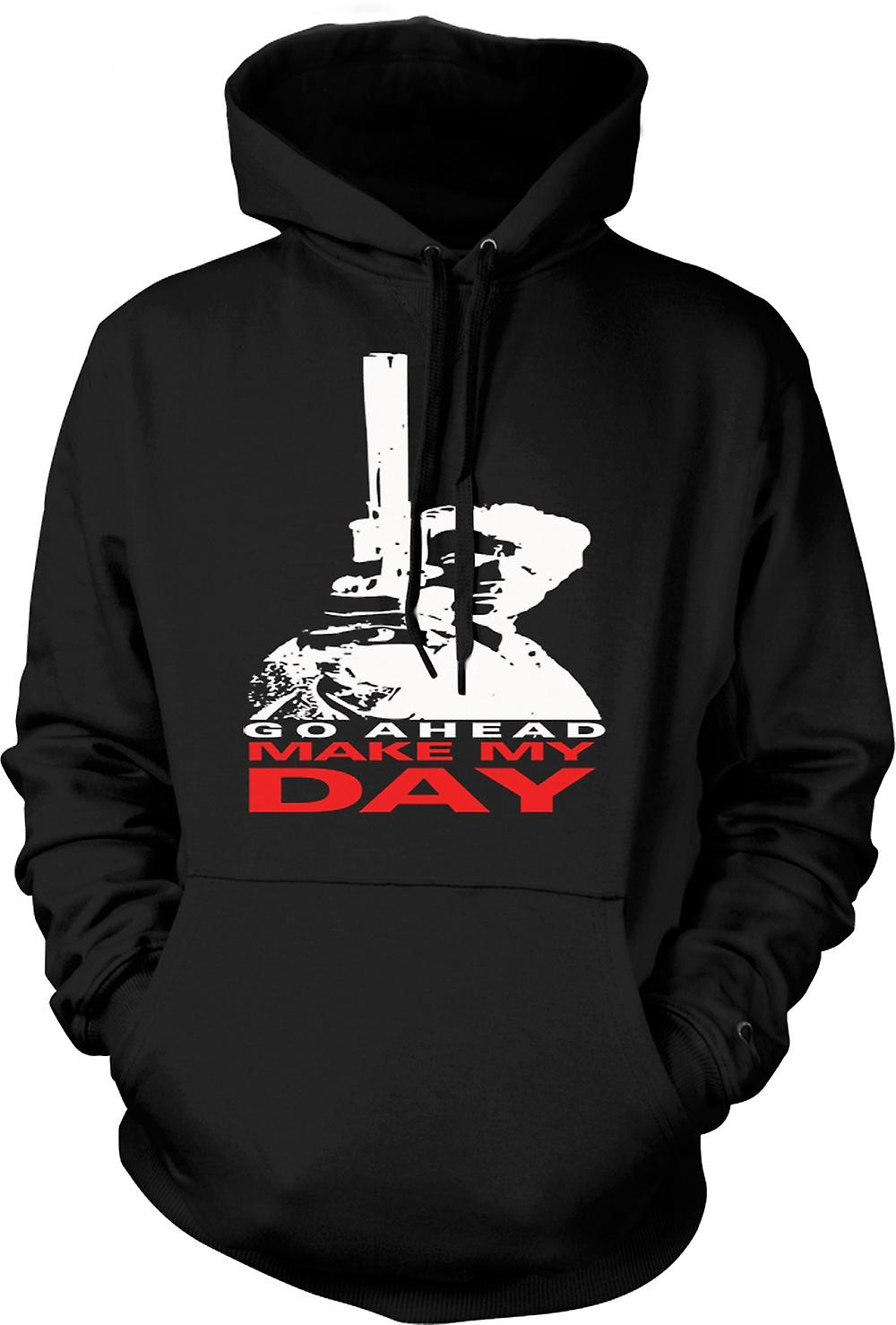 Mens Hoodie - Dirty Harry Make My Day - Clint