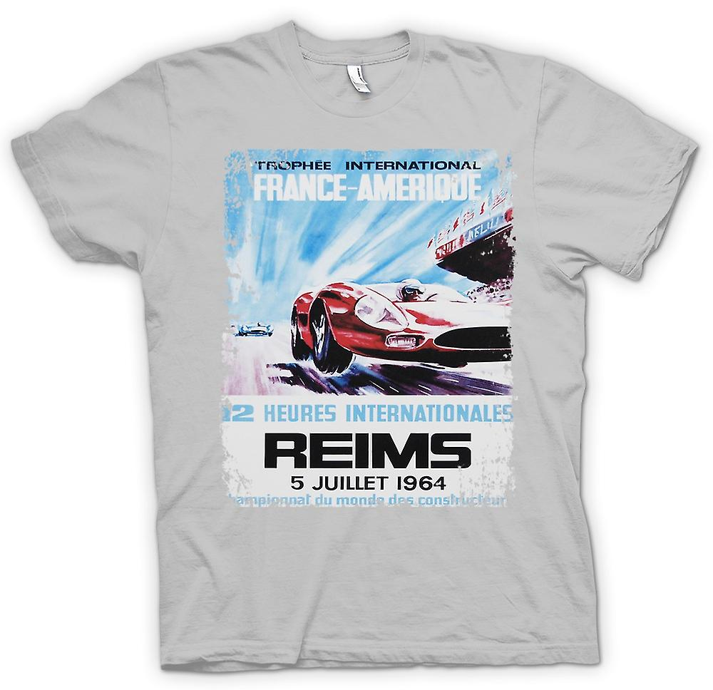 Mens T-shirt - Reims Grand Prix 64 - Racing Car