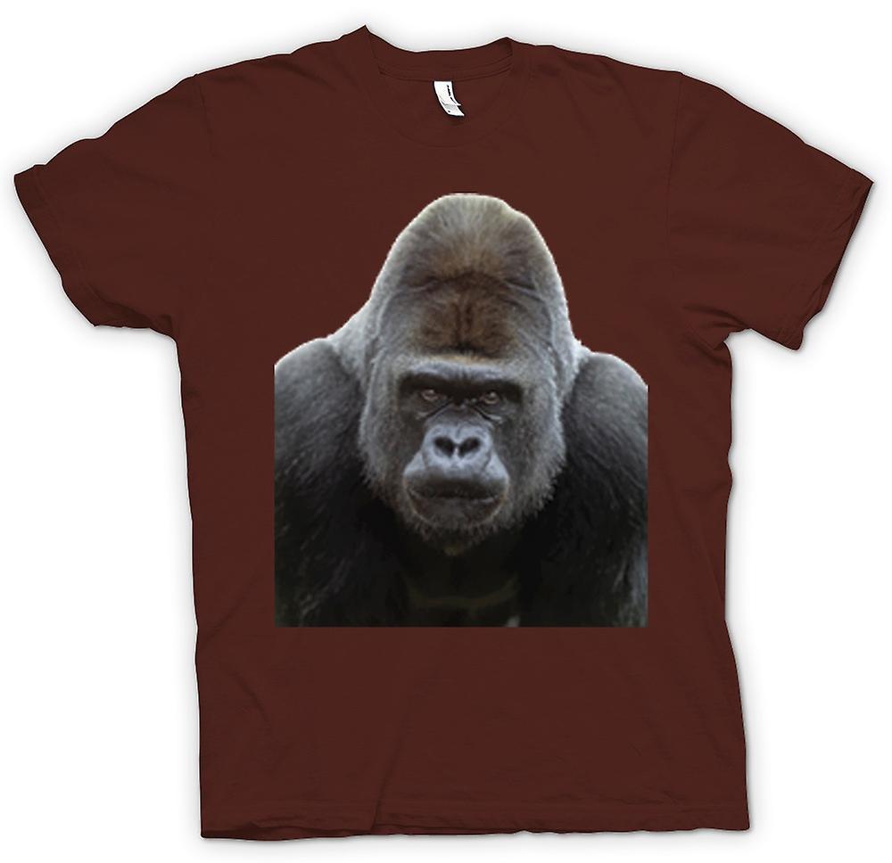Mens t-shirt-Gorilla Silverback ritratto