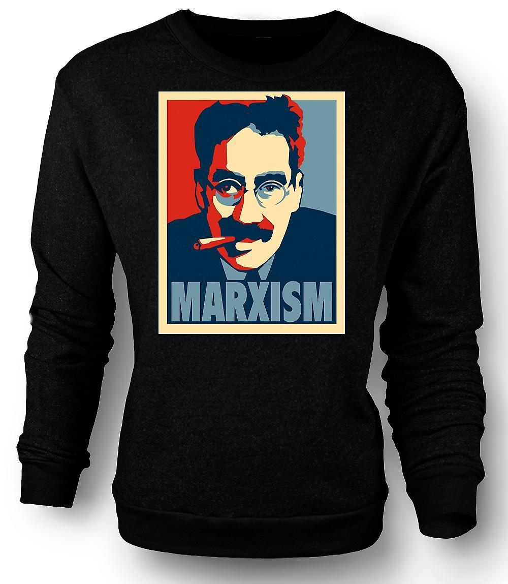 Mens Sweatshirt marxisme Groucho Marx - communisme